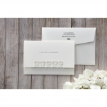 Letter fold style matte bridal invite with foiling