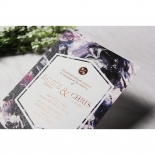 Mulberry Mozaic with Foil Invite