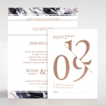 Mulberry Mozaic with Foil Wedding Invitation Card