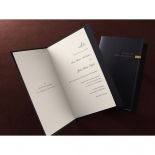 Celebration sleeve in booklet style with folding insert