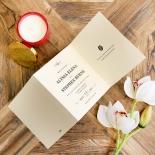 Oriental Charm Wedding Card