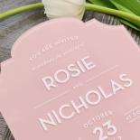 Pink Chic Charm Acrylic Invitation Card Design