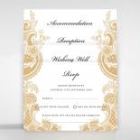 Prosperous Golden Pocket Invite Card Design