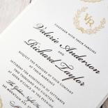 Prosperous Golden Pocket Wedding Card