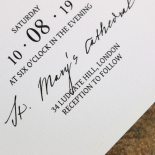 Pure Charm Invitation Card Design