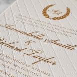 Quilted Letterpress Elegance Invite Card