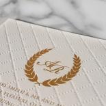 Quilted Letterpress Elegance Invite