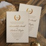 Quilted Letterpress Elegance Invitation Card