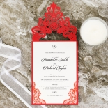 Red Lace Drop Card