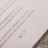 Regal Charm Letterpress Wedding Card
