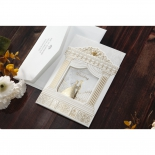 Shimmer gold foil designed invitation card