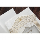Royal wedding inspired invite with embossed details
