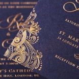 Royal Embrace Wedding Invite