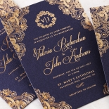 Royal Embrace Invite Card