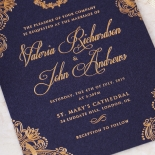 Royal Embrace Invitation Card