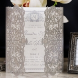 Royal Lace with Foil Wedding Card Design