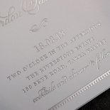 Royal Lace with Foil Stationery invite