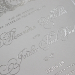Royal Lace with Foil Stationery card