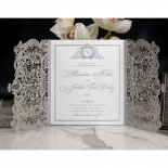Royal Lace with Foil Stationery card design