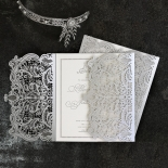Royal Lace with Foil Wedding Invite Design