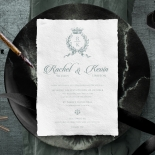 Royalty with Deckled Edges Invitation