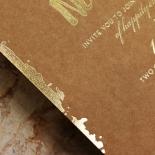 Rusted Charm Wedding Invite Card Design