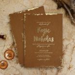 Rusted Charm Wedding Invite Design