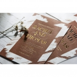 Rustic Brush Stroke with Foil Stunning invitation card