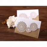 Two vintage gold and white invitations