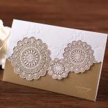 Gold foil printed floral vintage invite