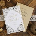 Rustic Elegance Wedding Invite Card