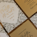 Rustic Elegance Wedding Invitation Card