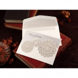 Rustic Lace Pocket Invite Design