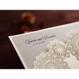Rustic Lace Pocket Wedding Card Design