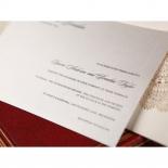 Rustic Lace Pocket Invite Card Design