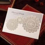 Rustic Lace Pocket Invite Card