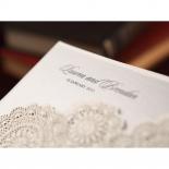 Rustic Lace Pocket Wedding Invitation Design