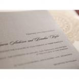 Rustic Lace Pocket Wedding Invitation Card Design
