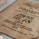Rustic Love Notes Invite Card Design