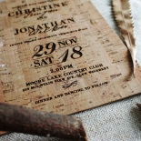 Rustic Love Notes Wedding Card