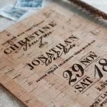 Rustic Love Notes Wedding Invitation Design