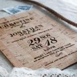 Rustic Love Notes Wedding Invitation Card Design