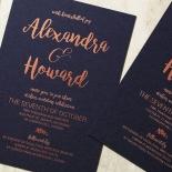 Rustic Lustre Wedding Invite Card