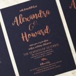 Rustic Lustre Wedding Invite Card Design