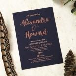 Rustic Lustre Invitation Card Design