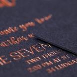 Rustic Lustre Wedding Invitation Card Design