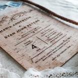 Rustic Oriental Invitation Card
