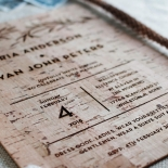 Rustic Oriental Wedding Invitation Card