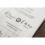 Rustic Woodlands Invitation Card Design