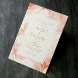 Serenity Marble Wedding Invite Card